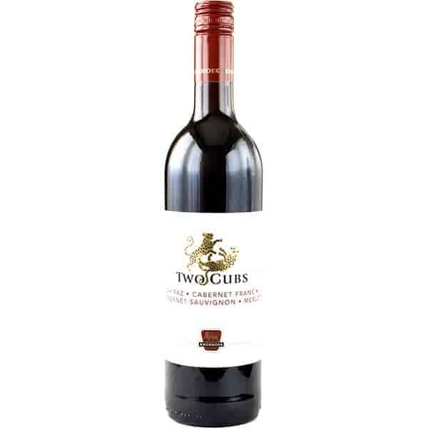 4 Knorhoek, Two Cubs, Shiraz, Cabernet Franc,, Cabern Sauvignon, Merlot rood Wijnhandel Smit