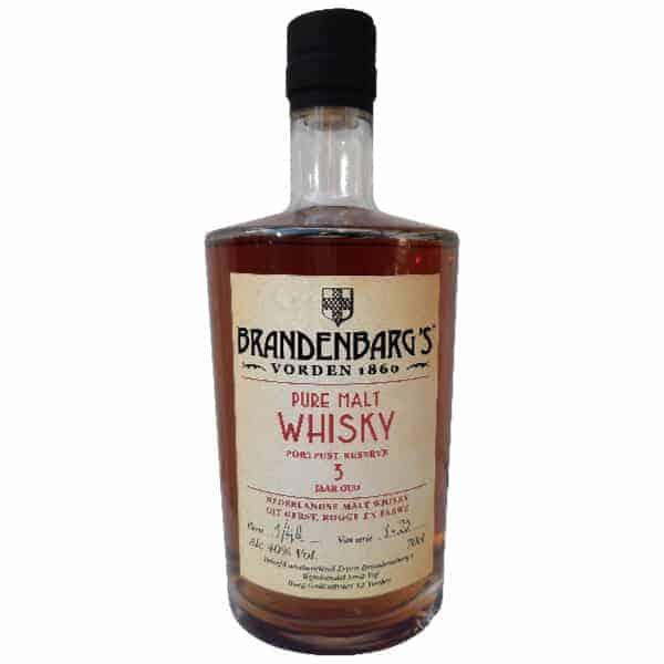 Brandenbarg's Pure Malt Whisky 3yo Port Fust Reserve